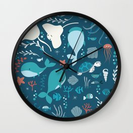 Sea creatures 004 Wall Clock