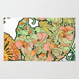 Romance in Paris, Art Nouveau Floral Nostalgia Rug