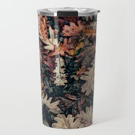 Autumn Leafs Pattern (Color) Travel Mug