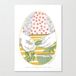 Aider à écosser des petits pois _ 3\34 _ Viola Gesmundo _ Piccoli piaceri della vita Canvas Print