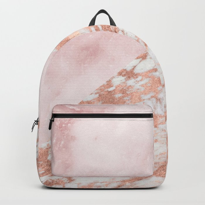 Rose gold & pinks marble Backpack