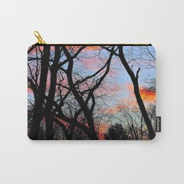 Sunset Through the Tangled Trees Carry-All Pouch