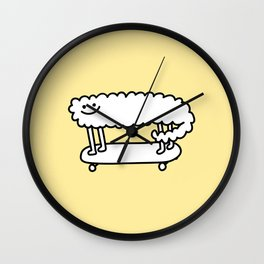 Skater Sheep Wall Clock