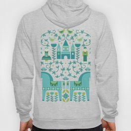 Fairytale Illustration in Blue Hoody