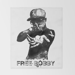 Free Bobby Shmurda Lithograph Throw Blanket