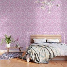 Watercolor Peonies in Pink Wallpaper
