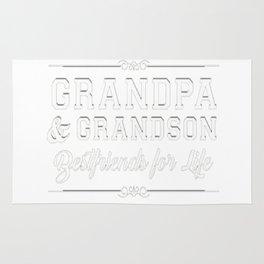 Men's Grandfather Grandson Friends Fist Bump Shirt Grandpa Grandad Rug