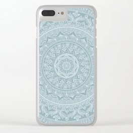 Mandala - Soft turquoise Clear iPhone Case
