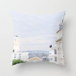 Urban landscape from Paris Throw Pillow