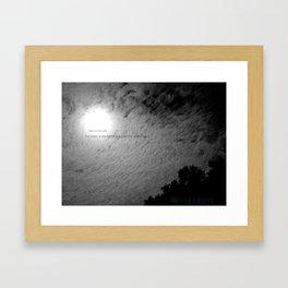 Fear not the Dark Framed Art Print