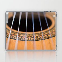 Strings of the guitar above the rose window Laptop & iPad Skin