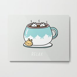 Marshmalunny Cocoa Metal Print