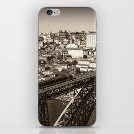Porto sepia iPhone Skin