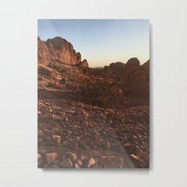 Carmelback Rocks At Dusk Metal Print