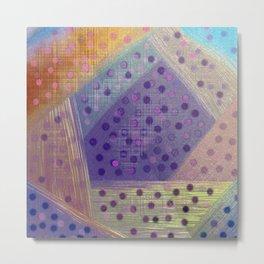 Soft Geometry Metal Print