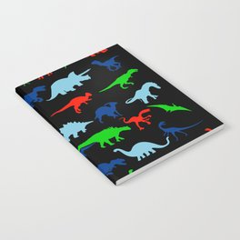 silhouettes of dinosaur pattern Notebook
