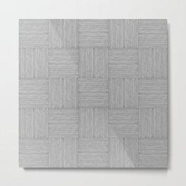 Silver Grey Gray Faux Bois Wood Pattern Metal Print
