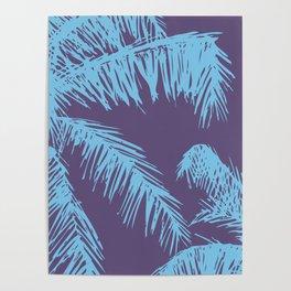 Ultra Violet Palm Print Poster