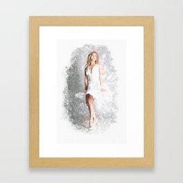Retro-Modern Pin-Up Girl Framed Art Print