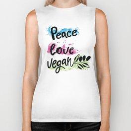 Peace love vegan Biker Tank