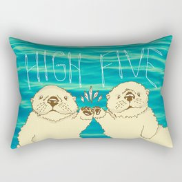 High Five / Sea Otters Rectangular Pillow
