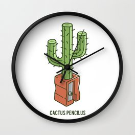 cactus pencilus Wall Clock