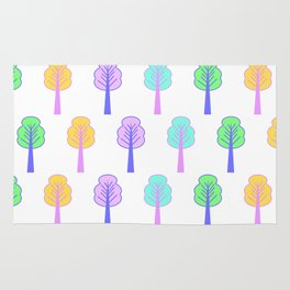Colorful little trees Rug