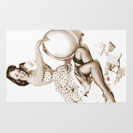 Out of This World by Gil Elvgren Pin Up Girl Rug
