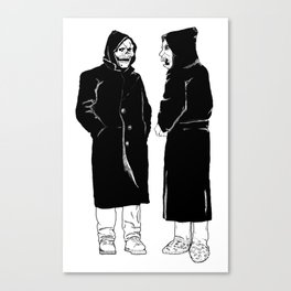 the devil and god Canvas Print