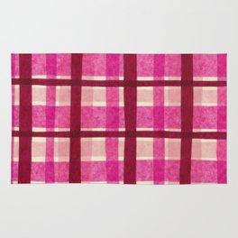 Tissue Paper Plaid - Pink Rug