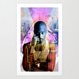 Rakim TheGod MC Art Print