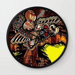 The Golden Phoenix Wall Clock