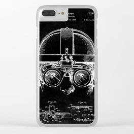 Welding Goggles Blueprint Clear iPhone Case