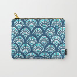 JEWELED SCALES Mermaid Watercolor Carry-All Pouch
