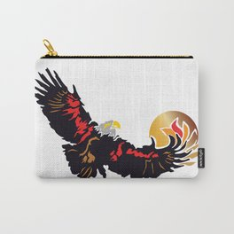Eagle Soaring at Sunrise  Carry-All Pouch