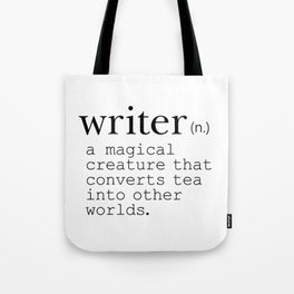 Writer Definition Converts Tea Tote Bag
