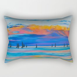 I'd Rather Be Sailing by Teresa Thompson Rectangular Pillow