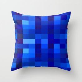 Blue Mosaic Throw Pillow