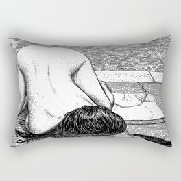 asc 799 - La chaleur chienne (Dog Days Drips) Rectangular Pillow