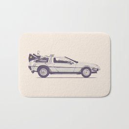 Famous Car #2 - Delorean Bath Mat