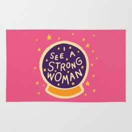 I see a strong woman Rug