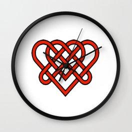 Celtic He Loves Me He Loves Me Knot Wall Clock