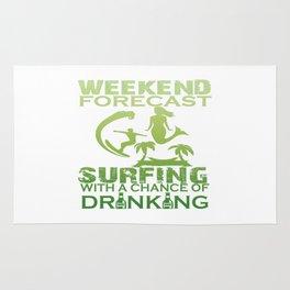 WEEKEND FORECAST SURFING Rug
