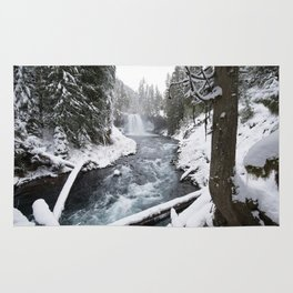 The Wild McKenzie River Waterfall - Nature Photography Rug