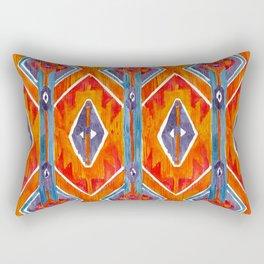navajo ikat print medium Rectangular Pillow