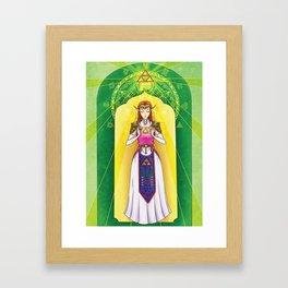 Princess Zelda - Triforce of Wisdom Framed Art Print