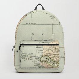 West  & North Africa Vintage Map Backpack