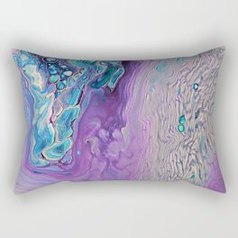Purple Fluid Acrylic Abstract Painting - Slow Down  III Rectangular Pillow