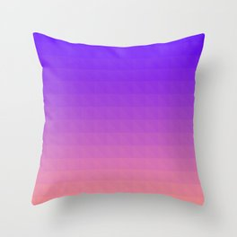 Pink and Purple Ombre Throw Pillow