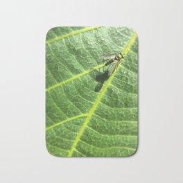 Fly on a Leaf Bath Mat